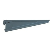 Console acier peint double grise long.370mm vrac 1 pi�ce - Cr�maill�res - Consoles - Menuisier - GEDIMAT