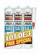 Mastic silicone RUBSON SA2 lot de 3 cartouches de 280ml - Pâtes et Mastics sanitaires - Plomberie - GEDIMAT
