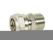 Raccord mâle fixe pour raccord multicouche à compression 15X21 tube diam.16mm - Dalle en béton Rumba ép.6cm dim30x30cm coloris rouge - Gedimat.fr