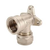 Applique pour raccord multicouche à compression diam.15x21 tube diam.16mm - Robinetterie du bâtiment - Plomberie - GEDIMAT