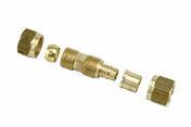 Raccord mâle pour raccord PER/cuivre sans soudure avec olive tube diam.12mm tube cuivre diam.10mm - Coude pour raccord PER 15X21 tube diam.12mm - Gedimat.fr