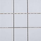 Carrelage pour sol ou mur en grés émaillé dim.10x10cm coloris white - Crédence verre trempé ép.6mm larg.90cm haut.70cm blanc herbe - Gedimat.fr