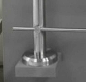 Poteau à plat pour gamme garde-corps en inox 304L - Elément droit de finition 200IG - 130 EM BL - Gedimat.fr