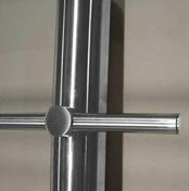 Bouchons pour tube pour gamme garde-corps en inox lot de 5 pièces - Rive individuelle gauche à recouvrement ALPHA 10 coloris Chevreuse - Gedimat.fr