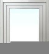 Fenêtre PVC blanc CALINA isolation totale de 100 mm 1 vantail ouverture à la française gauche tirant haut.60cm larg.40cm - Porte d'entrée Aluminium UTAH avec isolation totale de 160mm droite poussant haut.2,15m larg.90cm laqué blanc - Gedimat.fr