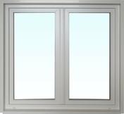 Fenêtre PVC blanc CALINA isolation totale de 120 mm 2 vantaux ouverture à la française haut.1,15m larg.1,00m - Fenêtre PVC blanc CALINA 1 vantail ouverture à la française gauche tirant haut.1,15m larg.80cm vitrage 4/16/4 basse émissivité - Gedimat.fr