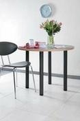 Pied de table fixe en acier diamètre 60 mm inox brossé - Accessoires cuisine - Cuisine - GEDIMAT