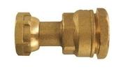 Raccord compteur laiton brut 2 pièces femelle diam.20x27mm pour tuyau polyéthylène diam.25mm en vrac 1 pièce - Robinetterie du bâtiment - Plomberie - GEDIMAT