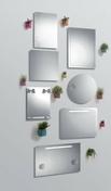 Miroir ROLLING haut.70cm long.50cm sérigraphie - Armoires de toilette et Accessoires - Salle de Bains & Sanitaire - GEDIMAT