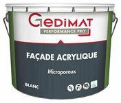 Peinture façade acrylique blanc 10L GEDIMAT PERFORMANCE PRO - Peintures façades - Peinture & Droguerie - GEDIMAT