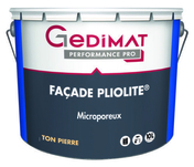 Peinture façade pliolite GEDIMAT 10L coloris pierre - Faîtière d'about de départ pour faîtage à glissement TERREAL coloris Pays d'Oc - Gedimat.fr