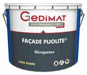 Peinture façade pliolite ton pierre 10 L GEDIMAT PERFORMANCE PRO - Peinture façade acrylique ton pierre 10L GEDIMAT PERFORMANCE PRO - Gedimat.fr