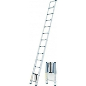 Echelle telescopique simple X-TENSO haut 3,20m - Calotte pour 1 faîtière et 2 arêtiers pour tuiles TERREAL coloris ardoisé - Gedimat.fr