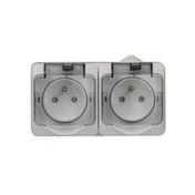 Double prise 2P+T étanche Cedar Plus IP44 gris - Poutre VULCAIN section 12x30 long.3,00m pour portée utile de 2.1 à 2.60m - Gedimat.fr