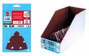 Lot 8 patins triangulaires velcro 6 trous 94 x 94 gr 120 par 15 lots - Consommables et Accessoires - Outillage - GEDIMAT
