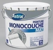 Peinture acrylique murale ASTRAL MONOCOUCHE coloris blanc base white aspect mat pot de 10L - Volige Sapin/Epicéa traitement Classe 2 section 15x150mm long.3,00m - Gedimat.fr