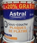 Sous-couche plaque de platre qualité professionnelle ASTRAL blanc 10L + 20% - Peintures sous-couches - Peinture & Droguerie - GEDIMAT