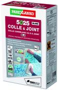 Mortier-colle améliorée C2 E 5025 COLLE & JOINT sac de 5kg coloris blanc - Carrelage pour sol intérieur en grès cérame coloré dans la masse rectifié EGO dim.60x60cm coloris beige - Gedimat.fr