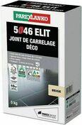 Joint de carrelage déco 1 à 6mm 5046 ELIT seau de 5kg coloris beige - Colles - Joints - Revêtement Sols & Murs - GEDIMAT