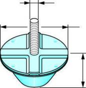 Antivibratile PLACOSTIL - 315X105mm - Accessoires plafonds - Isolation & Cloison - GEDIMAT