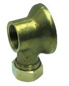 Applique coudée laiton brut femelle à raccord mixte diam.15x21mm pour tube cuivre diam.14mm avec lien 1 pièce - Robinetterie du bâtiment - Plomberie - GEDIMAT