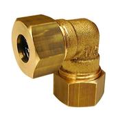 Coude instantané laiton brut à collet battu et joint mixte écrou diam.20x27mm pour tube cuivre diam.18mm avec lien 1 pièce - Tubes et Raccords d'alimentation eau - Plomberie - GEDIMAT