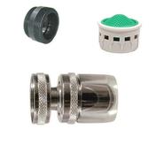 Rotule fem 22x100 + adaptateur male 22/24x100 debit 6.5 l/mn wwf coque 1 piece - Pièces détachées robinetterie - Plomberie - GEDIMAT
