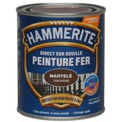 Peinture décorative antirouille CORONA HAMMERITE aspect martelé coloris chataigne 0,75L - Peintures fer - Peinture & Droguerie - GEDIMAT
