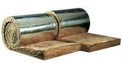 Laine de verre en rouleau à agrafer TR 312 revêtue alu long.9m larg.60cm ép.200mm vendu par 2 rouleaux - Substrat GRAVIFLOR pour toitures végétalisées inaccessibles - Gedimat.fr