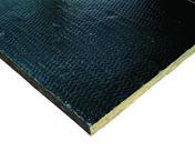 Panneau de laine de roche ROCFLAM long.1m larg.60cm ép.4cm - Chant plat Pin des Landes sans noeud 2 arrondis section 10x50mm long.2,40m - Gedimat.fr