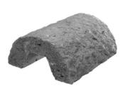 Couvertine ronde béton gravillon lavé Long.45 x Larg.41cm - Bordures - Matériaux & Construction - GEDIMAT