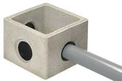 Regard béton CLIC BOX dim.ext.30x30cm haut.25cm - Feuille de stratifié HPL sans Overlay ép.0.8mm larg.1,30m long.3,05m décor Shiuma finition Velours bois poncé - Gedimat.fr