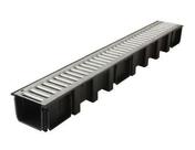 Caniveau PVC NICOLL DRP178 gamme Connecto avec grille acier galvanis� � recouvrement avec embo�ture m�le femelle long.1m larg.130mm - Hydrofuge en poudre SUPER SIKALITE dose de 1kg - Gedimat.fr