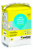 Mortier-colle WEBER.COL FLEX sac 5kg gris - Protection anti-fluage FERMACELL rouleau larg.1,50m long.50m - Gedimat.fr