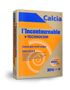 Ciment TECHNOCEM CEM II/A-LL 32,5 R CE CP2 NF - sac de 35kg - Patte à vis bois PVB - 7x50mm - boite de 100 pièces - Gedimat.fr