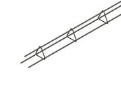 Chaînage triangulaire fermé 3HA8 haut.9cm larg.9cm Long.6m - Poutre HERCULE section 27x16 long.4,50m pour portée utile de 3.5 à 4.1m - Gedimat.fr