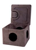 Regard eaux pluviales béton allégé haute résistance avec opercule PVC de 30x30cm - Laque brillante glycéro intérieur/extérieur 0,5L gris minéral - Gedimat.fr