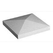 Chapeau de pilier pointe diamant dim.50x50cm coloris gris - Chapeau point de diamant 50x50cm ép.5cm coloris gris - Gedimat.fr