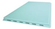Carreau de plâtre hydrofuge PF3 alvéolé 70 - 666x500mm - Doublage polystyrène expansé hydrofuge PLACOMUR E 13+40 - 2,60x1,20m - R=1,10m².K/W - Gedimat.fr