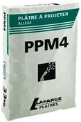 Plâtre à projeter standard PPM44 sac de 33kg - Plâtres en poudre - Matériaux & Construction - GEDIMAT