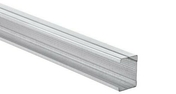 Montant acier galvanisé PREGYMETAL WAB Z275 48-35/6,2 larg.48mm long.3,00m - Doublage isolant hydrofuge plâtre + polystyrène PREGYMAX 29,5 hydro ép.13+110mm larg.1,20m long.2,60m - Gedimat.fr