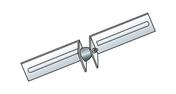 Liaison PHONI SL larg.8cm long.41cm - Accessoires plaques de plâtre - Isolation & Cloison - GEDIMAT