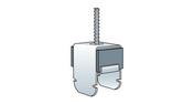 Suspente pivot acoustique PREGYMETAL boite de 50 pièces - Accessoires plaques de plâtre - Isolation & Cloison - GEDIMAT