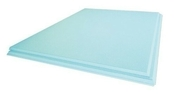 Carreau de plâtre hydrofuge PF3 plein 50 - 666x500mm - Radiateur à inertie sèche en pierre HERMANO Long.65,5cm Haut.59cm Ép.10cm coloris Blanc 1500W - Gedimat.fr