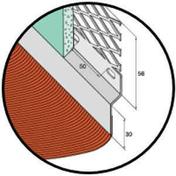 Solin acier déployé nuance zinc avec bavette 20cm en plomb plissé laqué rouge long.2m - Solins - Abergements - Couverture & Bardage - GEDIMAT