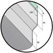 Solin joint mastic nuance zinc avec bavette 20cm en plomb lisse 10/10e naturel long.2m - Solins - Abergements - Couverture & Bardage - GEDIMAT