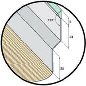 Solin joint mastic nuance zinc avec bavette 25cm en plomb plissé sable long.2m - Solins - Abergements - Couverture & Bardage - GEDIMAT