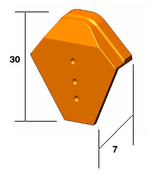 Fronton pour faîtière angulaire GIVERNY coloris vieilli Bourgogne - Laine de verre en panneau PRK 32 revêtue kraft ép.101mm larg.60cm long.1,35m - Gedimat.fr