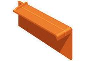 Rive à recouvrement traditionnelle droite pour tuile RESIDENCE coloris brun rustique - Poutrelle précontrainte béton RS 116 long.6,30m - Gedimat.fr