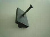 Clips de fixation + vis inox pour lame Composite SWING- SAMBA & ORIGIN boîte de 250 pièces - Té laiton brut 130GCU à souder diam.14mm sortie à visser diam.15x21mm 1 pièce en vrac avec lien - Gedimat.fr